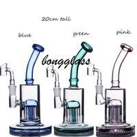 7,8-Zoll-Glas-Wasser-Bongs Armbaum PERC-Rauchrohr-Kopf-Glas-DAB-Rigs-Öl-Künern Shisha-Öl-Reclaim-Fänger mit 14mm