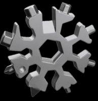 Snowflake متعددة أداة 18 في 1 ندفة الثلج وجع الفتاحة زجاجة متعددة المهتيريتول متعددة حلقة رئيس الدراجة إصلاح أداة عيد الميلاد ندفة الثلج هدية 66 S2