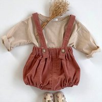 Baby Boy Clothes Set Autumn Long Sleeve T Shirt And Denim Overalls Strap Jumpsuit Outfits Newborn Girl Clothing