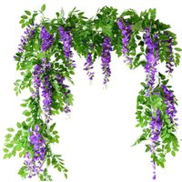 꽃 문자열 인공 등나무 포도 나무 포도 나무 garland 식물 단풍 야외 홈 후행 꽃 가짜 매달려 벽 장식 Ahb3333