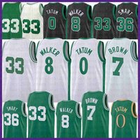 Jayson 0 Tatum Kemba 8 Walker Basquete Jersey Mens 33 Marcus 36 Smart Marcus 36 Smart Gordon 20 Hayward Green