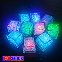 Decompression Toy Mini LED Party Lights Square Color Changing ice Glowing Cubes Blinking Flashing Novelty Supply