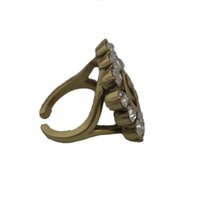 Designer Rings Open Cassic Letter Diamond Bronze Ring With Stamp Fashion Jewelry For Women Top Party Gift