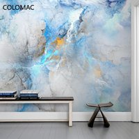 Wallpapers Colomac Custom Simple Abstract Colorful Cloud Art Wallpaper Bedroom TV Background Wall Mural Decor For Drop Shopping