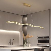 Pendant Lamps Modern Dining Room Chandelier Simple LED Light For Hall Kitchen Restaurant Livingroom Gold Black Bar Office Hanging Lamp