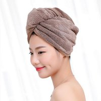 Towel Super Absorbent Quick-drying Bath Polyester Cotton Women Bathroom Microfiber Hair Dry Cap Salon 23x60cm