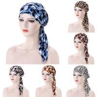 Леопард Зебра Мусульманская тюрбана шляпа для женщин Исламский внутренний Hijab Caps Arm Wrap Head Carrf Femal Hijab Scarf Turbante Mujer