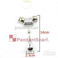 Ciondolo caldo fai da te 12 pz / lotto Shine Shine Jewellery Sciarpa Risultati Design Nuova collana di moda in plastica Acqua AC0046, Set di fascino Drop, CCB Shi KXWO