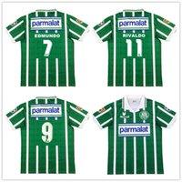 1993 1994 Palmeiras R. Carlos Edmundo rétro Mens Soccer Jerseys Zinho Rivaldo Evair Home Football Chemises hommes Uniformes camisas de futebol