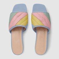 Sandalias para mujer Zapatos 2021 Toe de verano grueso plano PU Sólido PU Casual Playa Playa Flops Femeninas Damas Calzado Mujeres Negro Rosa Color tamaño grande