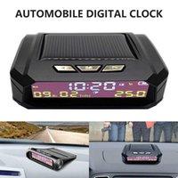 Solar Car Digital Clock LCD Display Car Thermometer Auto Truck Dashboard Clock Electronic Time Monitor Calendar Temperature