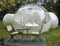 Half Clear half white Double Rooms inflatable Bubble House For Sale 3M 4M 5M Dia Transparent home Hotel With Toilet air Dome Tree Igloo