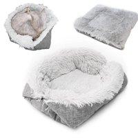 Kennels & Pens Foldable Plush Pet Dog Bed Winter Warm Pets Soft Mats House Washable Cat Sleeping Nest