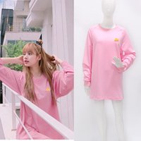 Women's Hoodies & Sweatshirts Kpop Korean Celebrity Pink Loose Women Fashion Kawaii Round Neck Pullover In The Long Section Girl Clothes