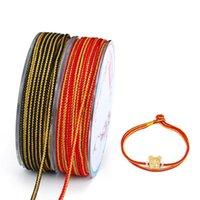 Fil de cordon de nylon 2mm filet de cordon chinois bracelet macrame bracelet tressé cordon bricolage Shamballa perlée corde pour accessoires de bijouterie
