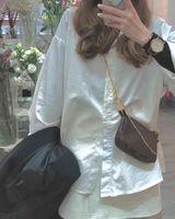 Pochette Accessoires Womens 니스 클러치 저녁 미니 가방 작은 어깨 핸드백 데일리 파우치 브라운 캔버스 가죽 가방
