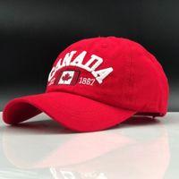 JiangxiHuuiano 2019 Hot Simples Canada Carta Bordado Bonés Beisebol Bonés Para Homens Mulheres Lazer Hat Cap Wholesale