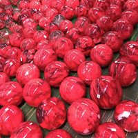 Yuvarlak Kristal Top Doğal Sanat 5-6 cm Süsler Şifa Döndür Şans Tabanı Kadın Adam Kırmızı Moda Aksesuarlar Kristaller Topları 29YG K2