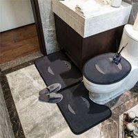 3pcs tapetes de banho sem-deslizamento padrão padrão tapete anti-skid universal de alta qualidade assento esteira de porta atacado