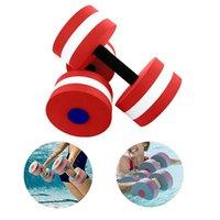 Haltères eau haltère 1 paire aqua fitness barbells mousse barres de la main de la piscine résistance exercice pesas para hacer ejercicio