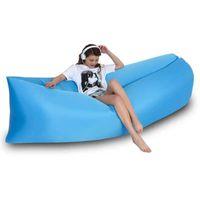Новый открытый ленивый надувной диван сетка красный надувной кровать портативный воздушный спальный мешок Одиночный складной кемпинг воздушная подушка ColorFu2L9