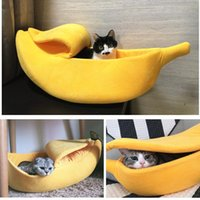 Cat Beds & Furniture Funny Banana Bed House Cute Cozy Mat Warm Durable Portable Pet Basket Kennel Dog Cushion Supplies Multicolor