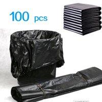 (596x04) Sacos de lixo preto descartável para casa sala de cozinha lixo dump desperdício sacos 100 pcs