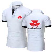 Men's T-Shirts 2021 Summer Mans Short Sleeve Thin MASSEY FERGUSON Logo Print Cotton Custom Made Solid Color Shirt Trend Male Wild T-shi