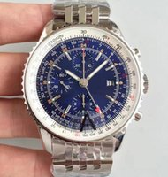 Classic mens watch 40MM chronograph dial sapphire glass quartz chronograph movement stainless steel strap Top watch