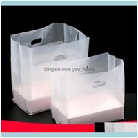 Wrap Event Festive Party Supplies Home & Garden50Pcs Lot Fast Box Plastic Packing Boutique Salad Gift Bag Thickened Portable Takeout Bags Tr