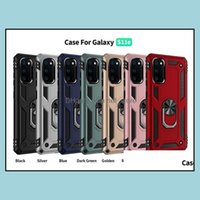 Cases Phone Aessories Cell Phones & Aessoriesfor Samsung S21 20 Tra S20 Smetal Ring Stand Case Kickstand Er Galaxy Note 10 S10 Plus S9 A10E