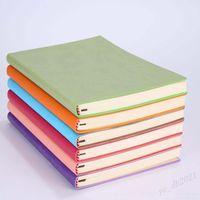 Haute Qualité A5 Simple Classic Solid Journal Notebooks Daily Calendrier Mémo Sketchbook Home School Office Notepads Fournitures Cadeaux 8 Couleur