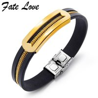 Charm Bracelets Classic Mens Leather Stainless Steel Luxury Jewellery Pulseira Masculina Hipster Bracelet Men Jewelry Bangles