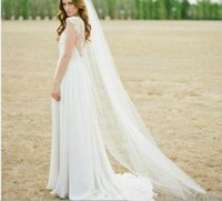 In Stock Ivory White Two Meters Bridal Veils Long Tulle Wedding Accessories Church Outdoor Formal Occasion Veil With Comb Black