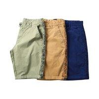 Herren Shorts Cargo Side Stripe Camouflage Sommer Mode Solide Hose Männer Kleidung 3 Farben
