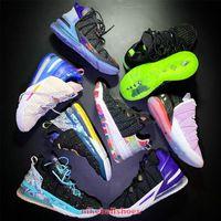 رجل lebrons lbj 18 xviii ep لوس أنجلوس la منذ يوم عيد إمبراطورية اليشم البطيخ تينت كرة السلة أحذية للبيع نسائية أطفال أحذية رياضية