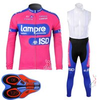 lampre team mannen wielertrui set herfst fiets uniform sneldrogende mountainbike kleding lange mouw fiets shirt bib broek pak y21031602