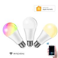 Homekit WIFI Smart Bulb LED lamp APP Control E27 LED Bulbs 15W RGB 85-265V Siri Voice Control For Alexa Echo Google Home