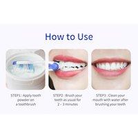 Breylee Dientes Whitening Powder Retire la placa Manchas de dientes Herramientas dentales Dientes blancos Limpieza de higiene oral Cepillo de dientes Gel 30 g