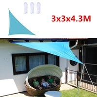 Shade 3x3x4.3M Sun Sail Home Outdoor Garden Waterproof Canopy Patio Plant Cover UV Block Awning Decor Sunshade Right Triangle