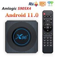 X96 X4 Amlogic S905x4 Android 11.0 TV Box 4 GB + 64 GB WiFi Smart RGB Light Media Player 8K Set Top Pudełka