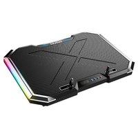 Laptop Refrigeración Pads Pad Notebook Stand Altura Ajustable LED Screen Light Six Fan 2 Accesorios USB 12-18 pulgadas Gaming Cooler