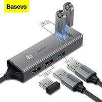 Baseus Multi USB C Hub إلى 3.0 3. 0 نوع الفاصل ل Macbook Pro Air Multi Port - Type- Hab Adapter 210615