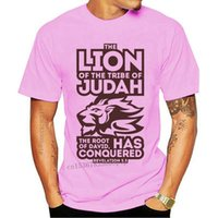 Men's T-Shirts O-Neck Cotton Mens T Shirt Summer Fashion Retro Logo Tshirt Funny Designers Lion Of The Tribe Judah 3D Print Tee-Shirt