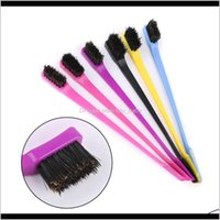 Brushes Beauty Double Side Edge Comb Control For Styling Salon Professional Accessories Hair Brush Random Color Gvq7K Jhb2J