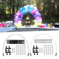 Party Dekoration einfach 1 Set nützlich Happy Festival Balloon Frame Kit Verschleißfeste Bogen Multifunktionsfunktion für Tisch