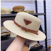 2021 Tasarımcı Kap Kova Şapka Moda Erkekler Kadınlar Donatılmış Şapka Yüksek Kaliteli Saman Güneş Kapaklar