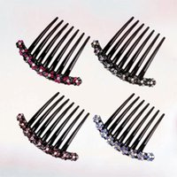 Hair Brushes 1pc Crystal Combs Temperament Flower Jewelry Inserted Comb Accessories For Girls (Random Color)