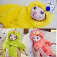 Cat Costumes Cute Super Warm Double Berber Fleece Sweater Sphynx Clothing Comfort Thickened Winter Sphinx Hairless