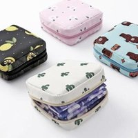 Storage Bags Girls Diaper Sanitary Napkin Bag Nylon Pads Package Coin Purse Jewelry Organizer Pouch Case